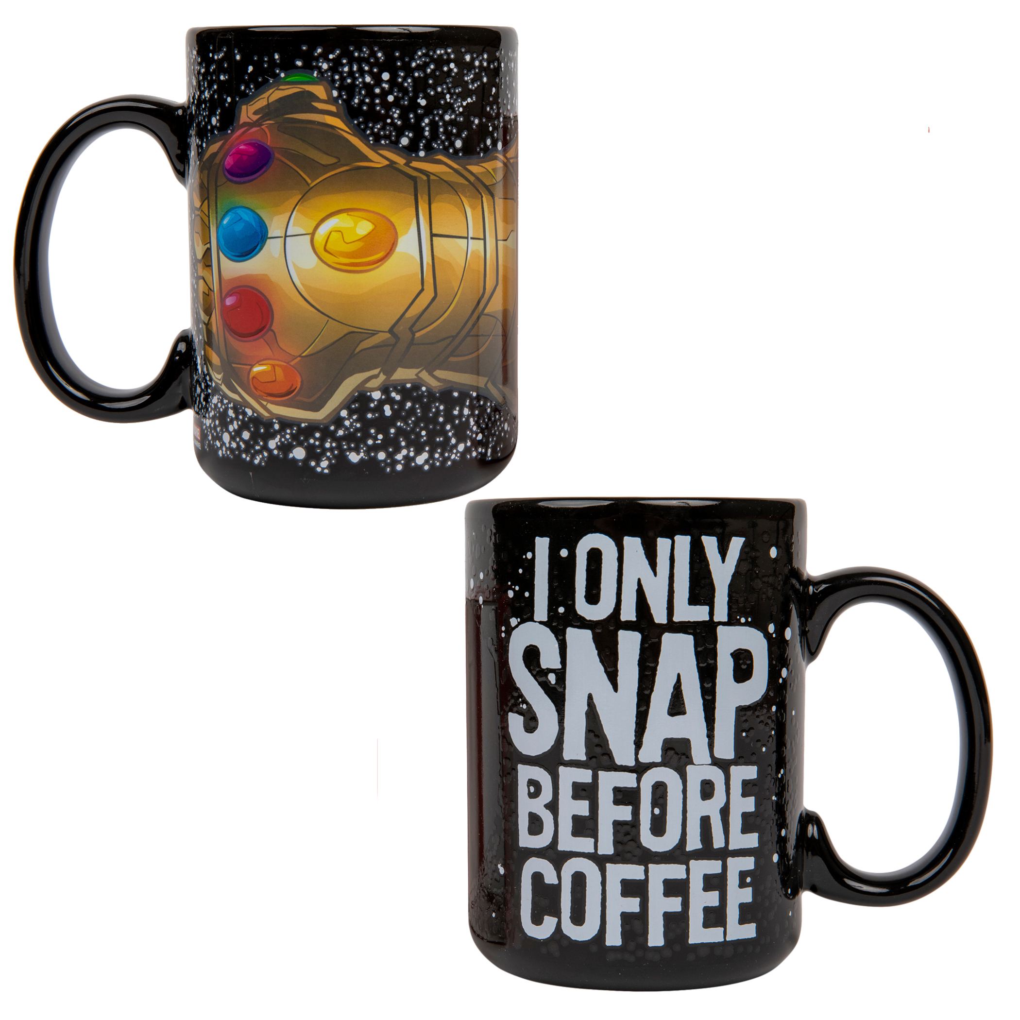 Thanos I Only SNAP Before Coffee 15oz. Color Change Ceramic Mug