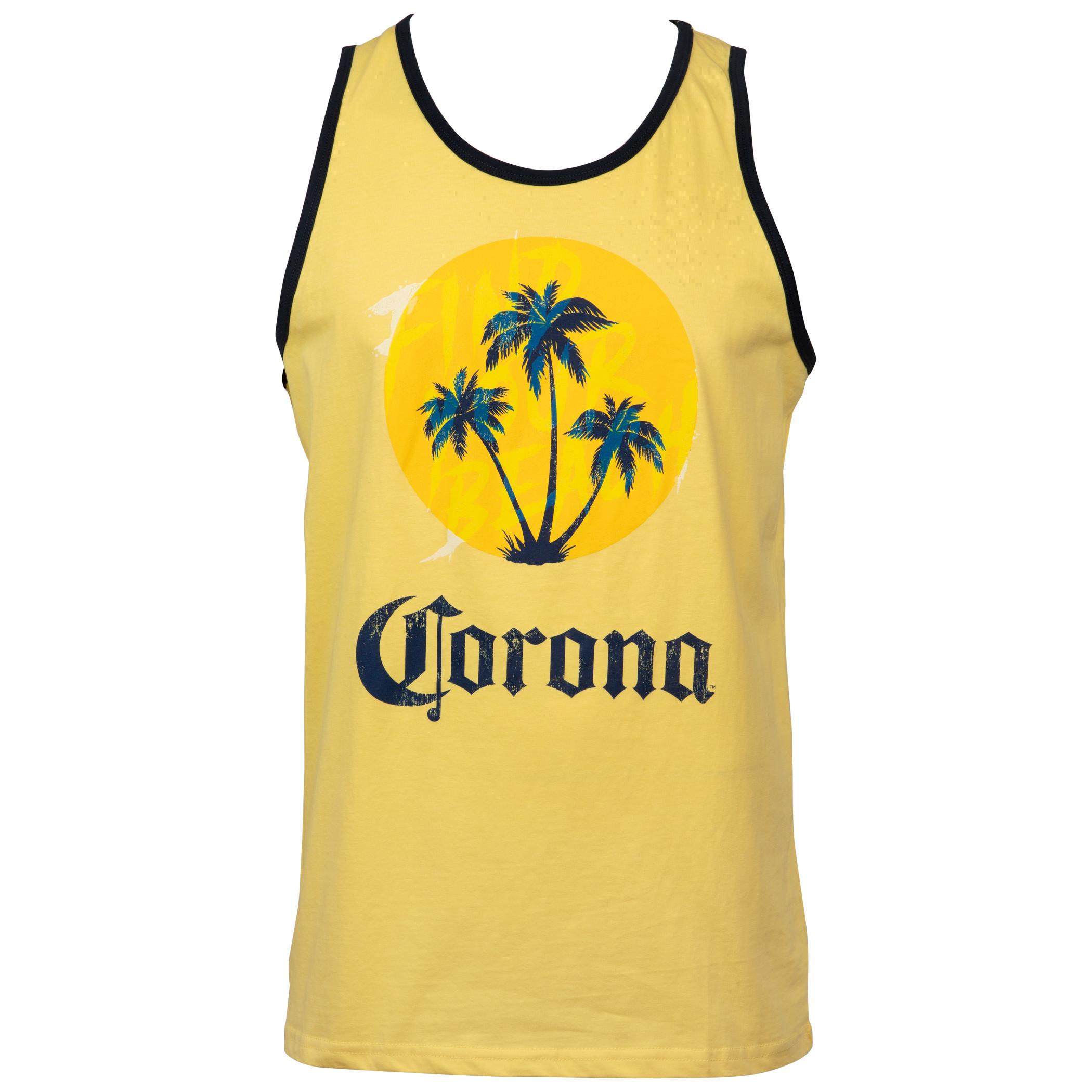 Corona Extra Palm Trees Symbol Tank Top