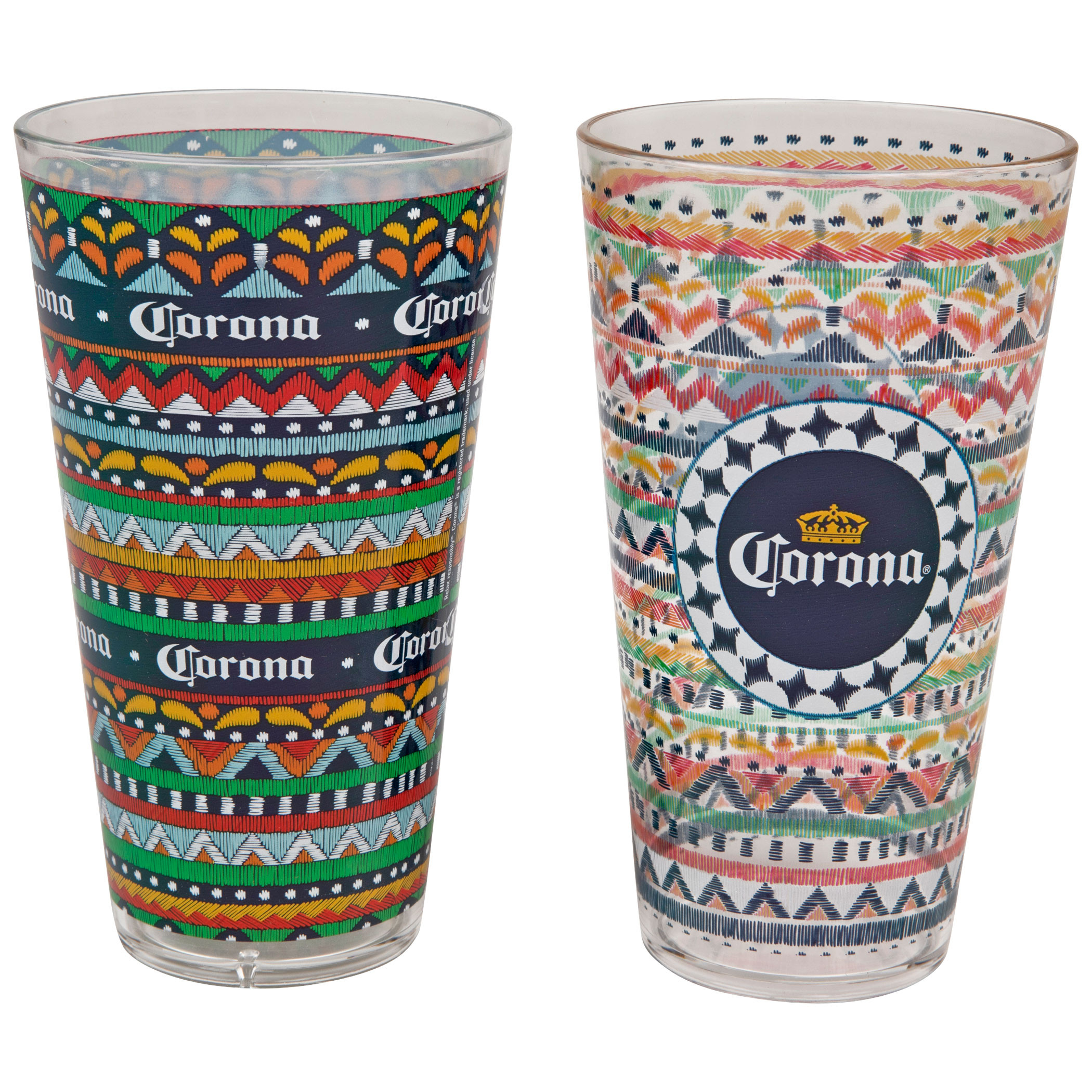 Corona Extra Colorful 2-Pack Pint Glasses