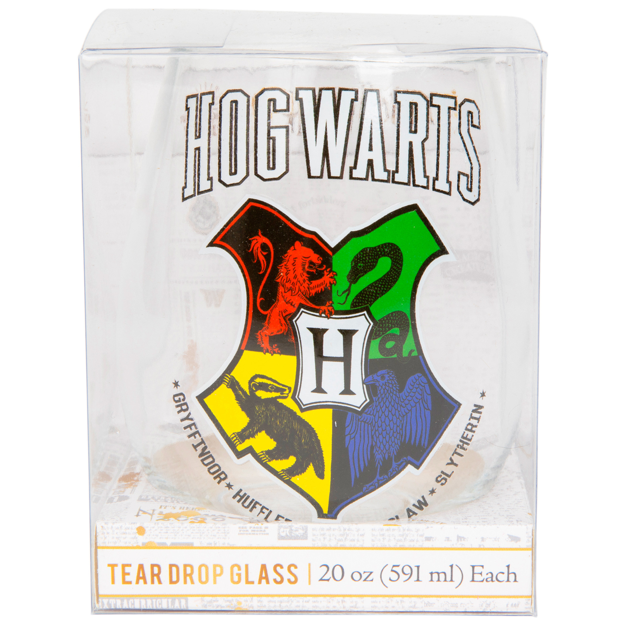 Harry Potter Houses 20 Oz Stemless Wine Glass