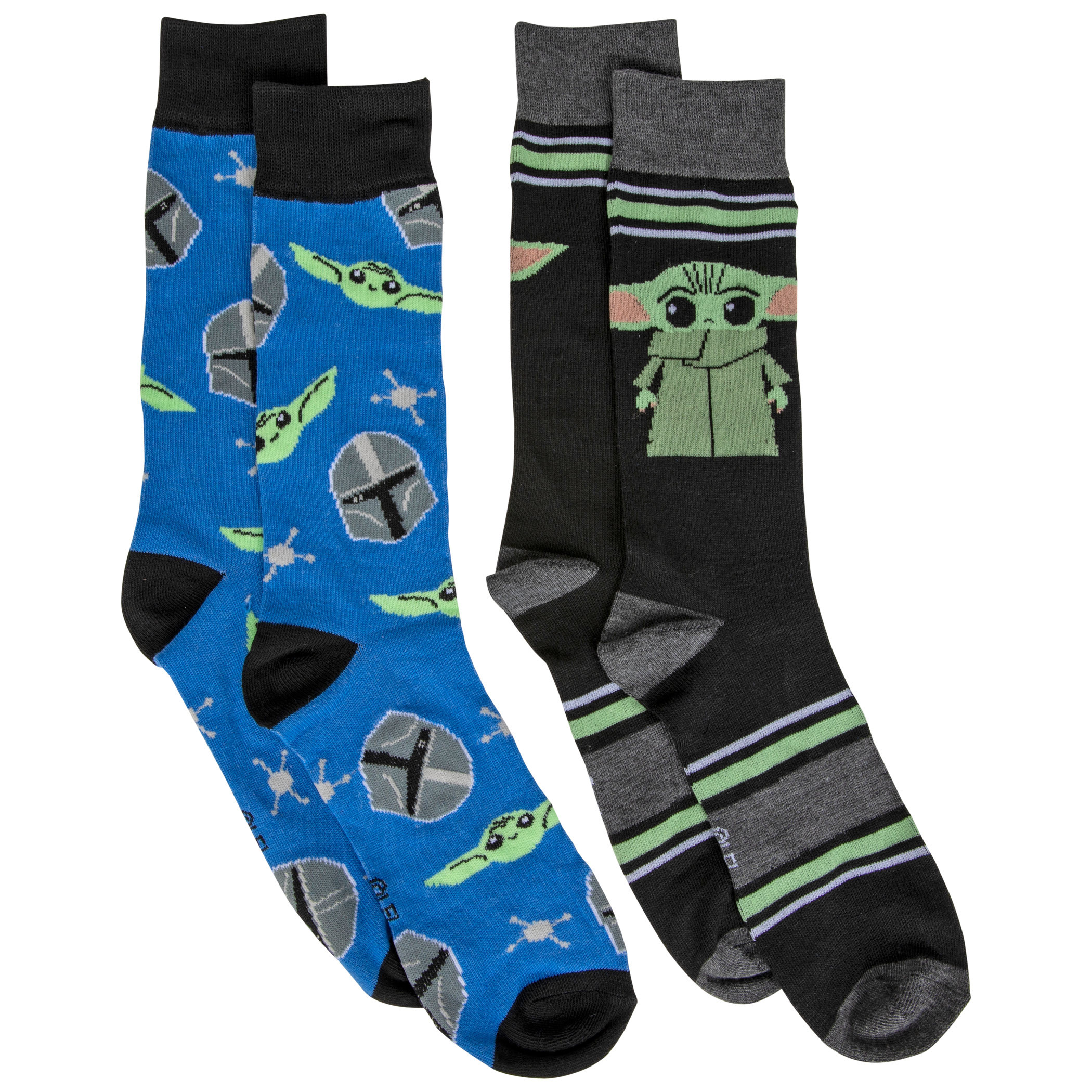 Star Wars The Mandalorian The Child & The Way 2-Pack of Casual Crew Socks