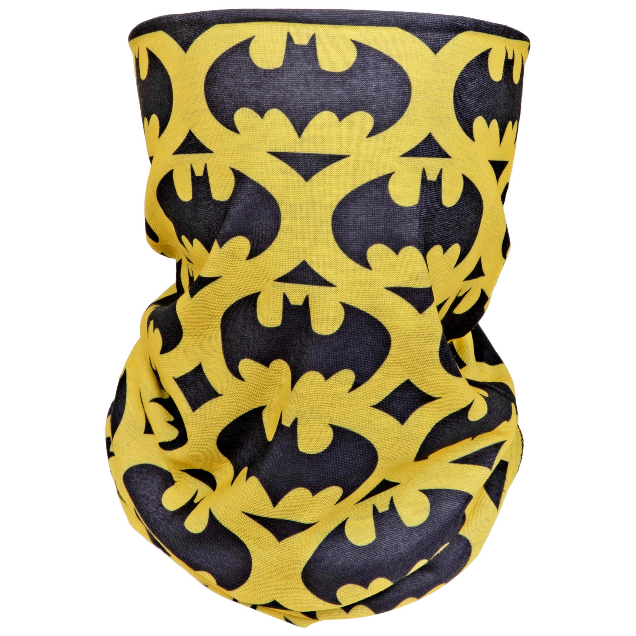 Batman Stacked Logos Full Face Mask Gaiter Tubular Bandana