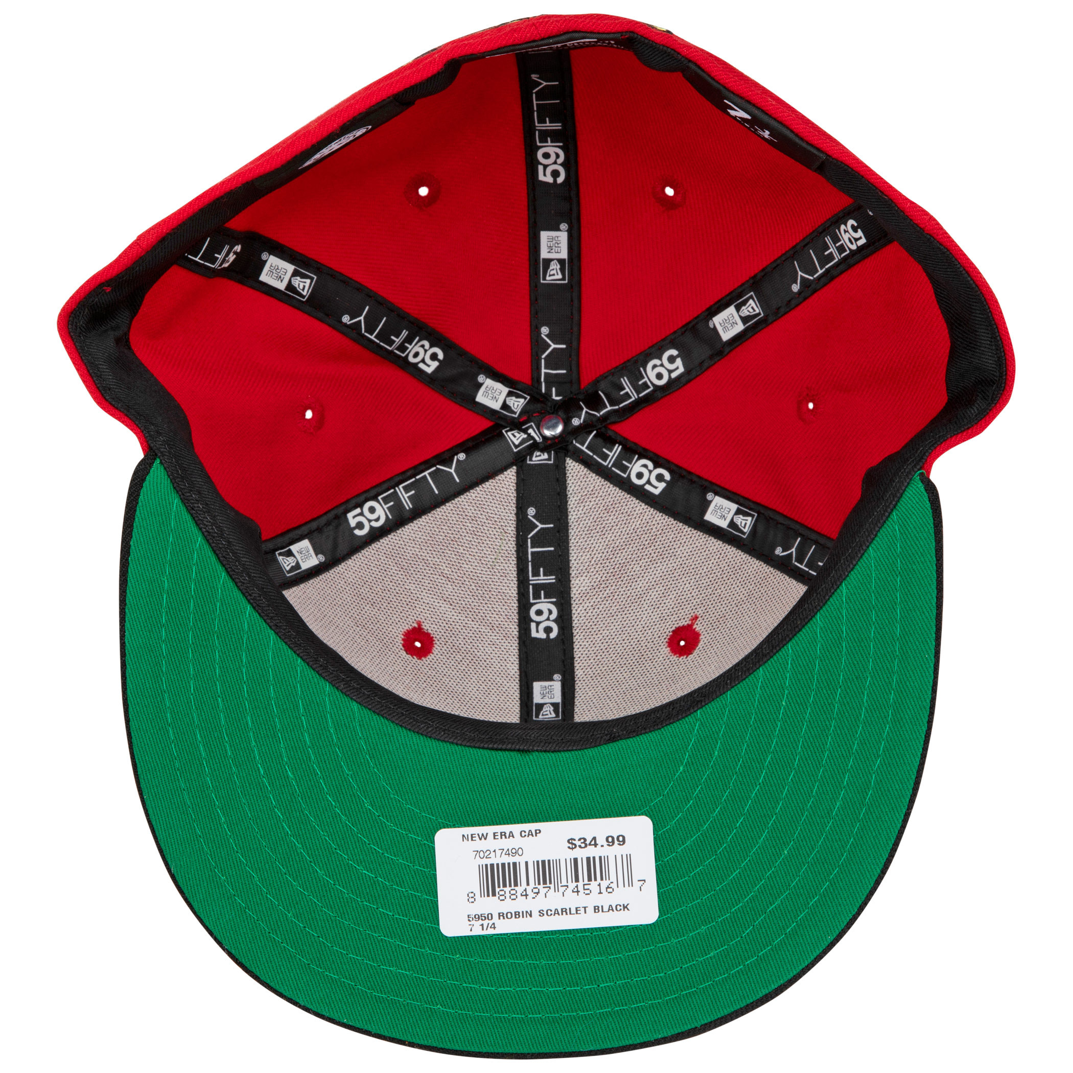 Robin Symbol Scarlet New Era 59Fifty Fitted Hat