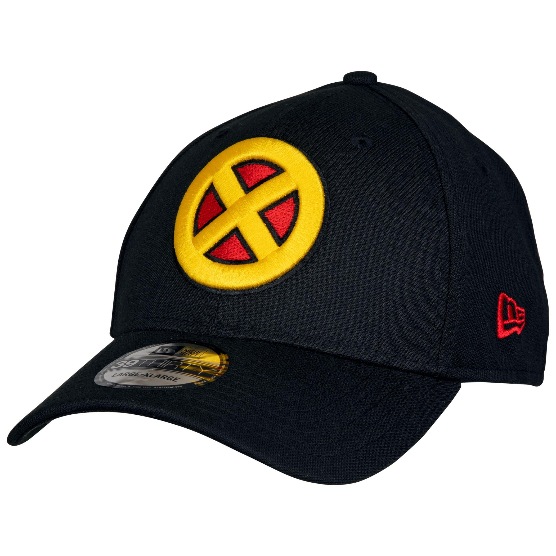X-Men Symbol Black Costume New Era 39Thirty Fitted Hat