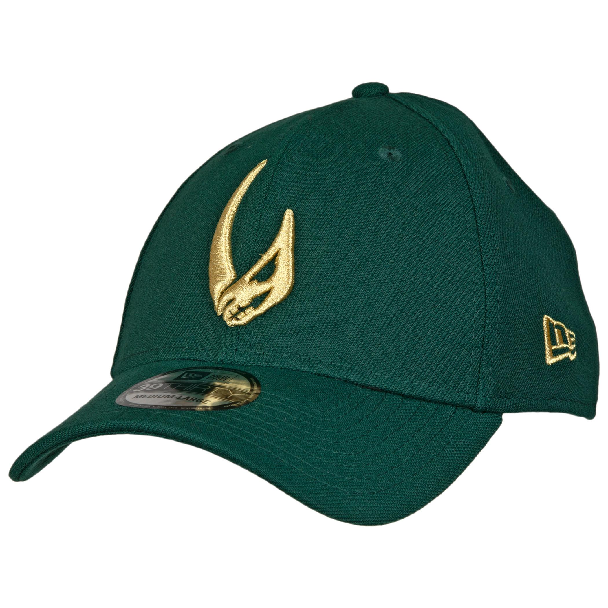 Star Wars Mandalorian Mudhorn Sigil Green New Era 39Thirty Flex Fitted Hat