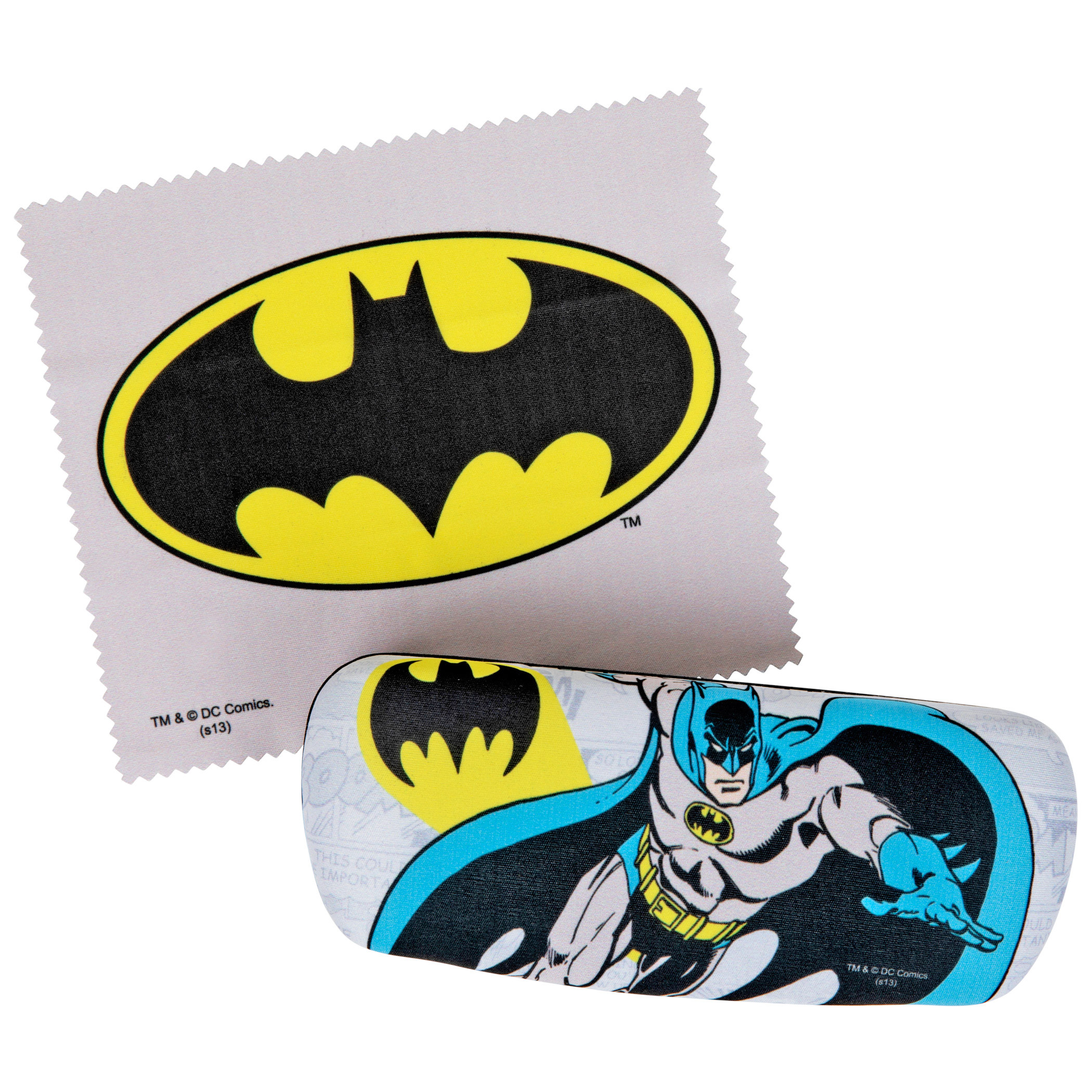 Batman Symbol and Character Glasses Case with Cleaning Cloth