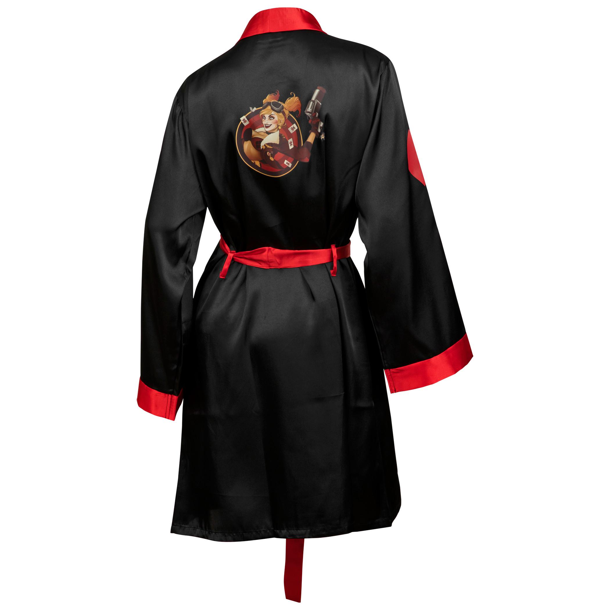 DC Comics Harley Quinn Bombshell Silky Satin Robe