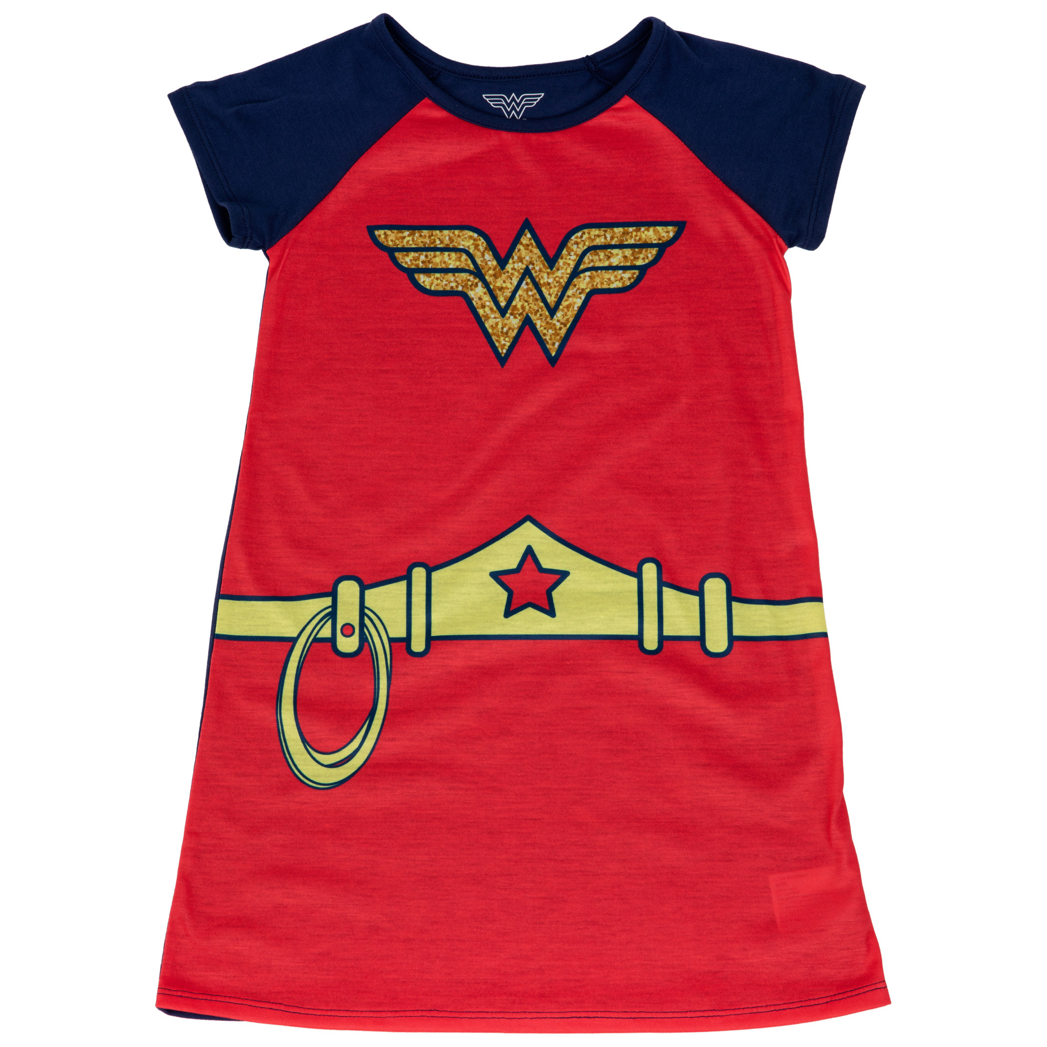 Wonder Woman Costume with Star Shoulders Girl's Sleep Gown