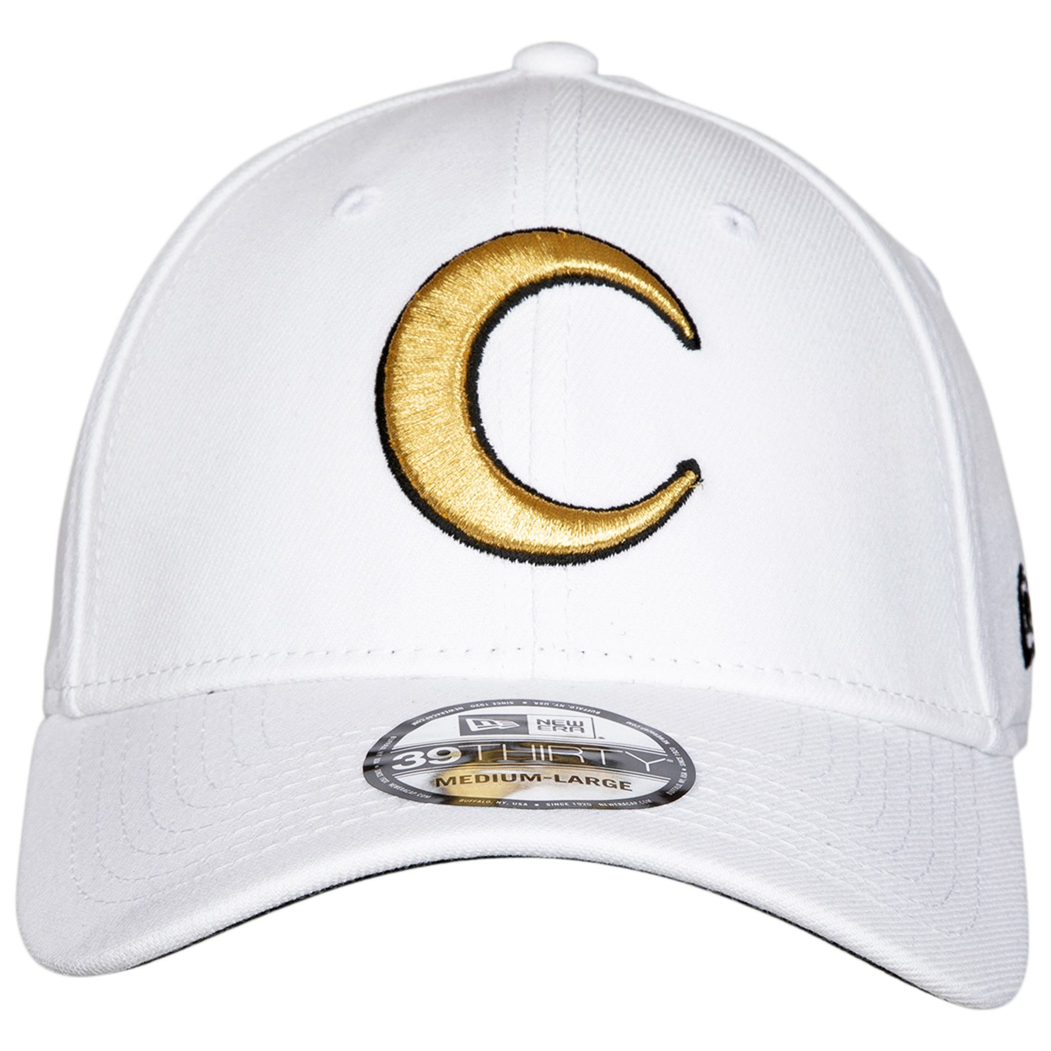 Moon Knight Gold with Outline Symbol New Era 39Thirty Fitted Hat