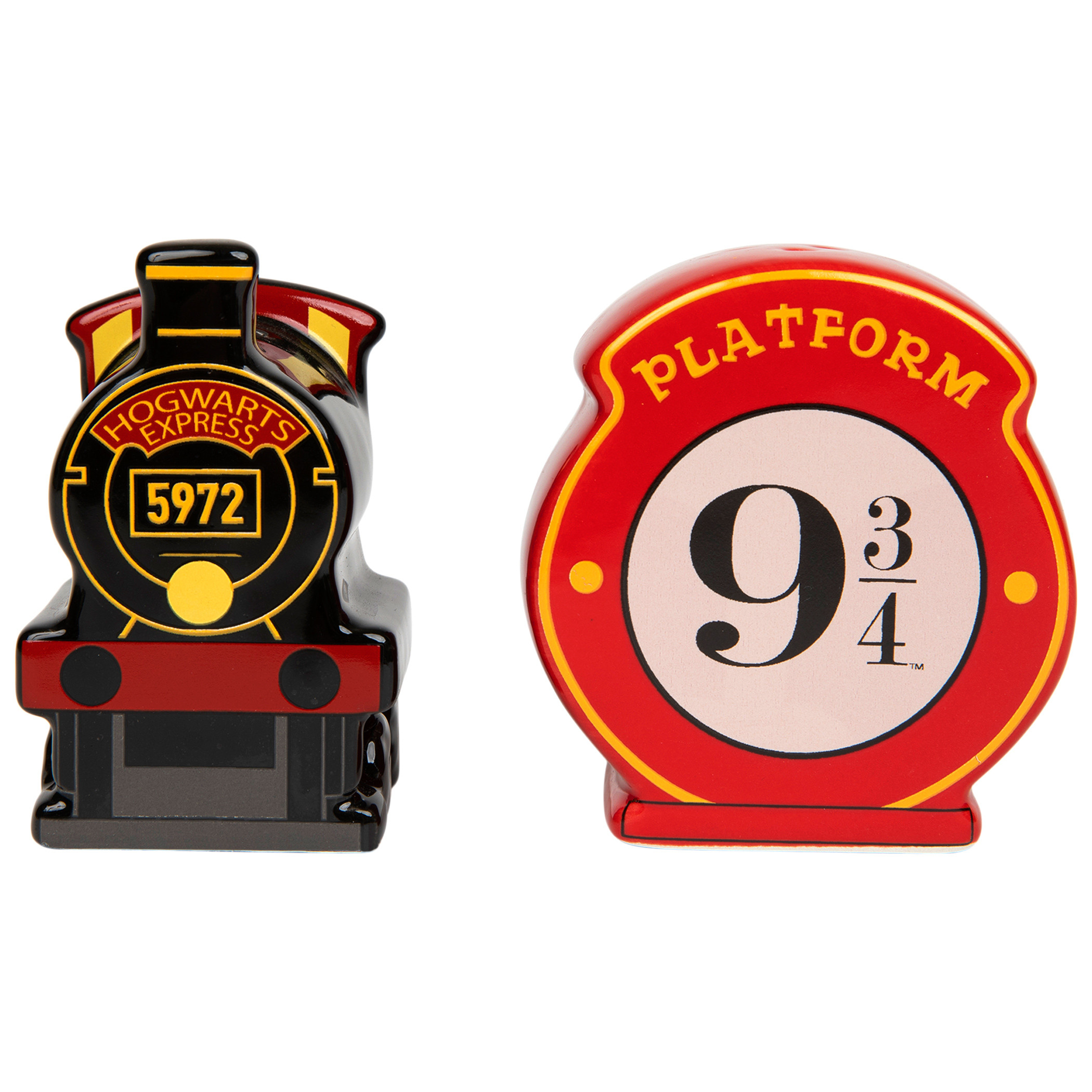 Harry Potter Hogwarts Express Platform Ceramic Salt and Pepper Shaker