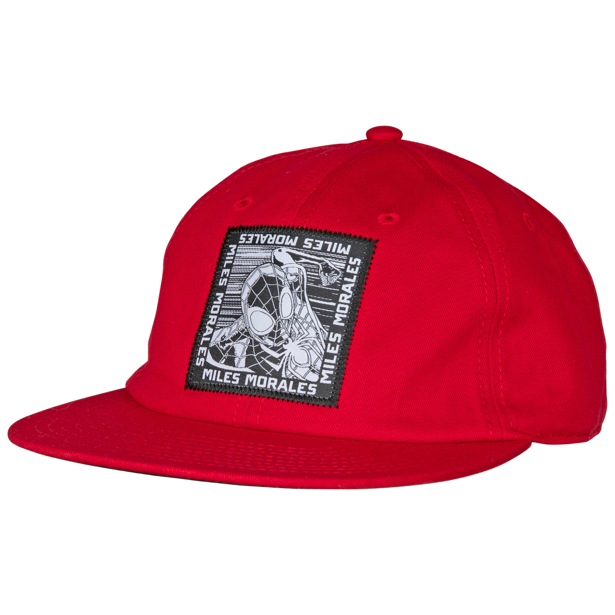 Marvel Spider-Man Miles Morales Woven Patch Slouch Flatbill Hat
