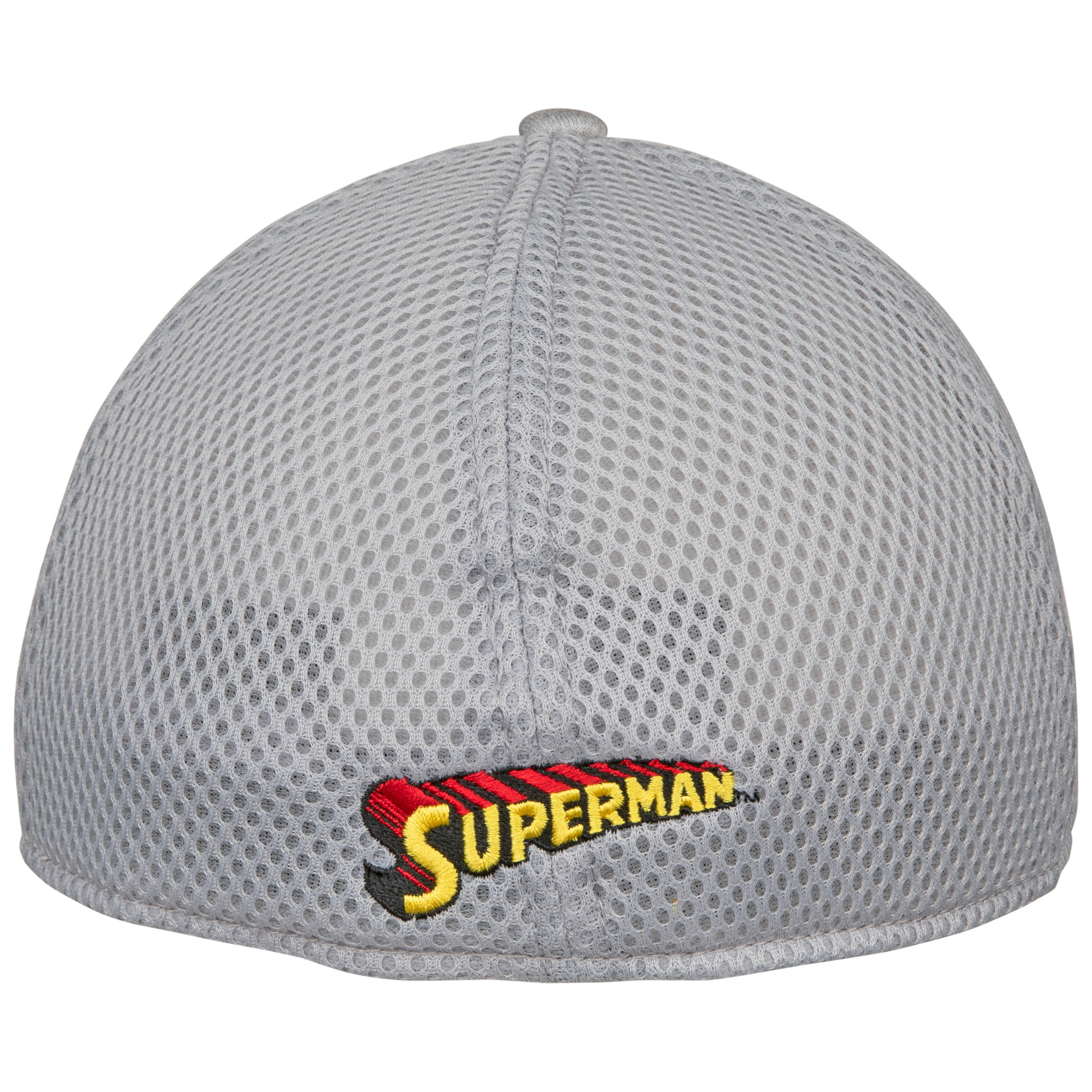 Superman Symbol Grey Shadow Tech New Era 39Thirty Fitted Hat