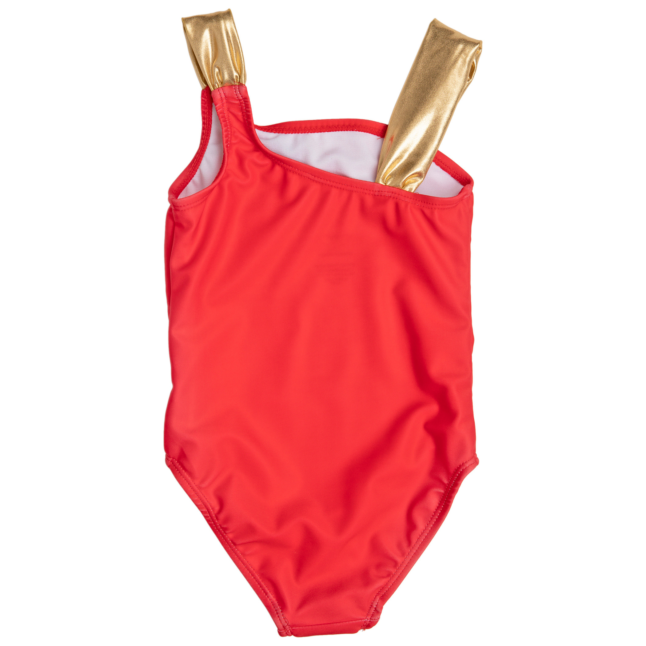 Wonder Woman Character Gold Foil One Piece Girls Toddler Swimsuit