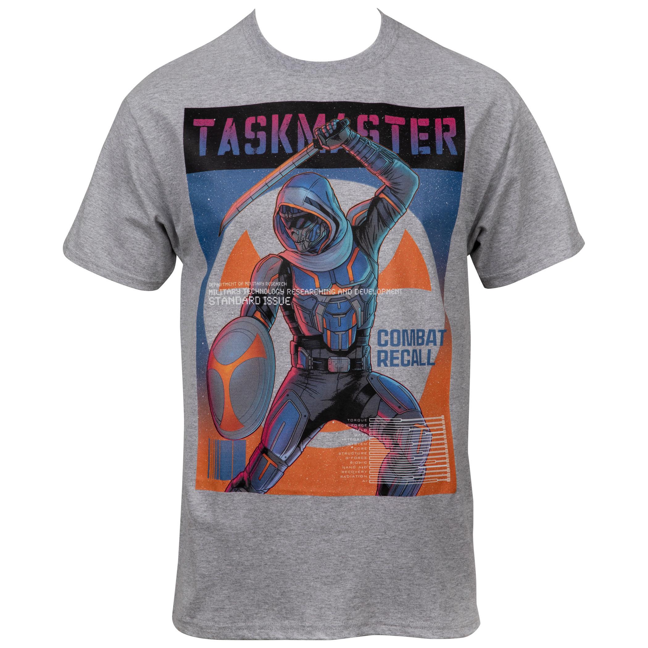 Black Widow movie Taskmaster Combat Recall T-Shirt