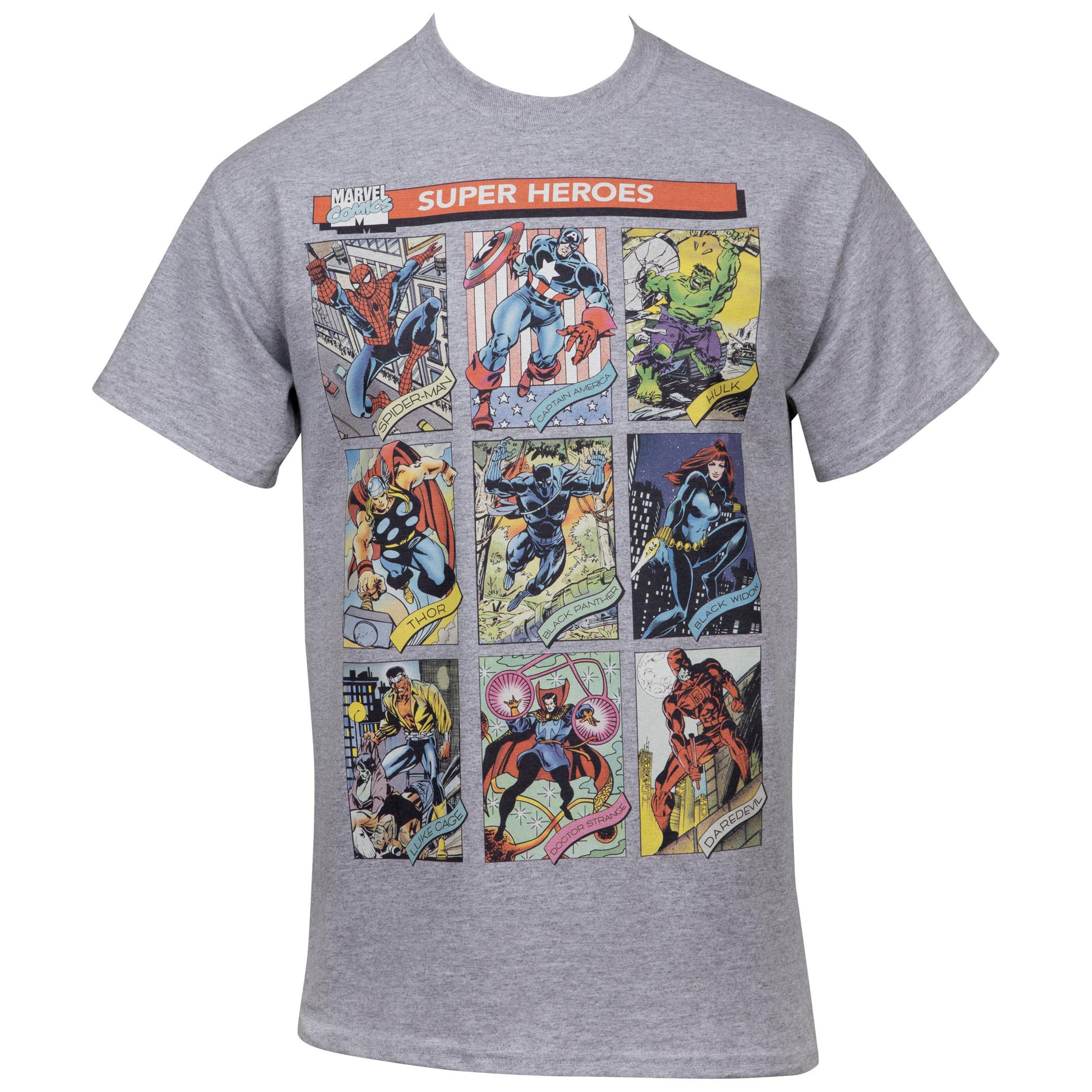 Marvel The Avengers Hero Trading Card Images T-shirt