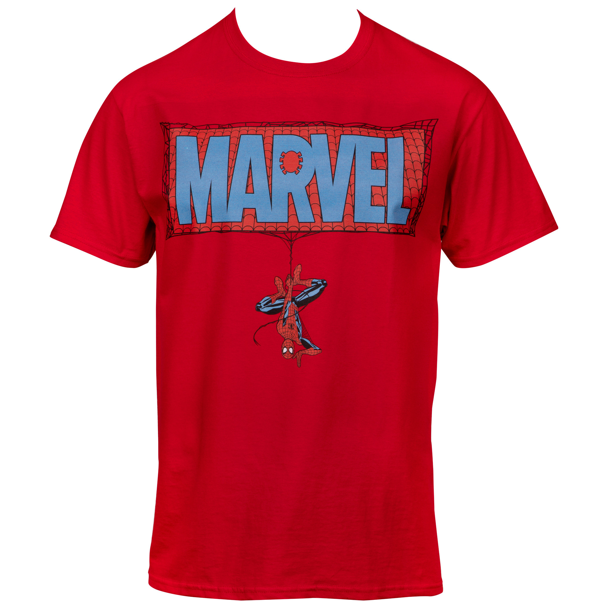 Marvel Comics Text Brand Spider-man Themed T-shirt