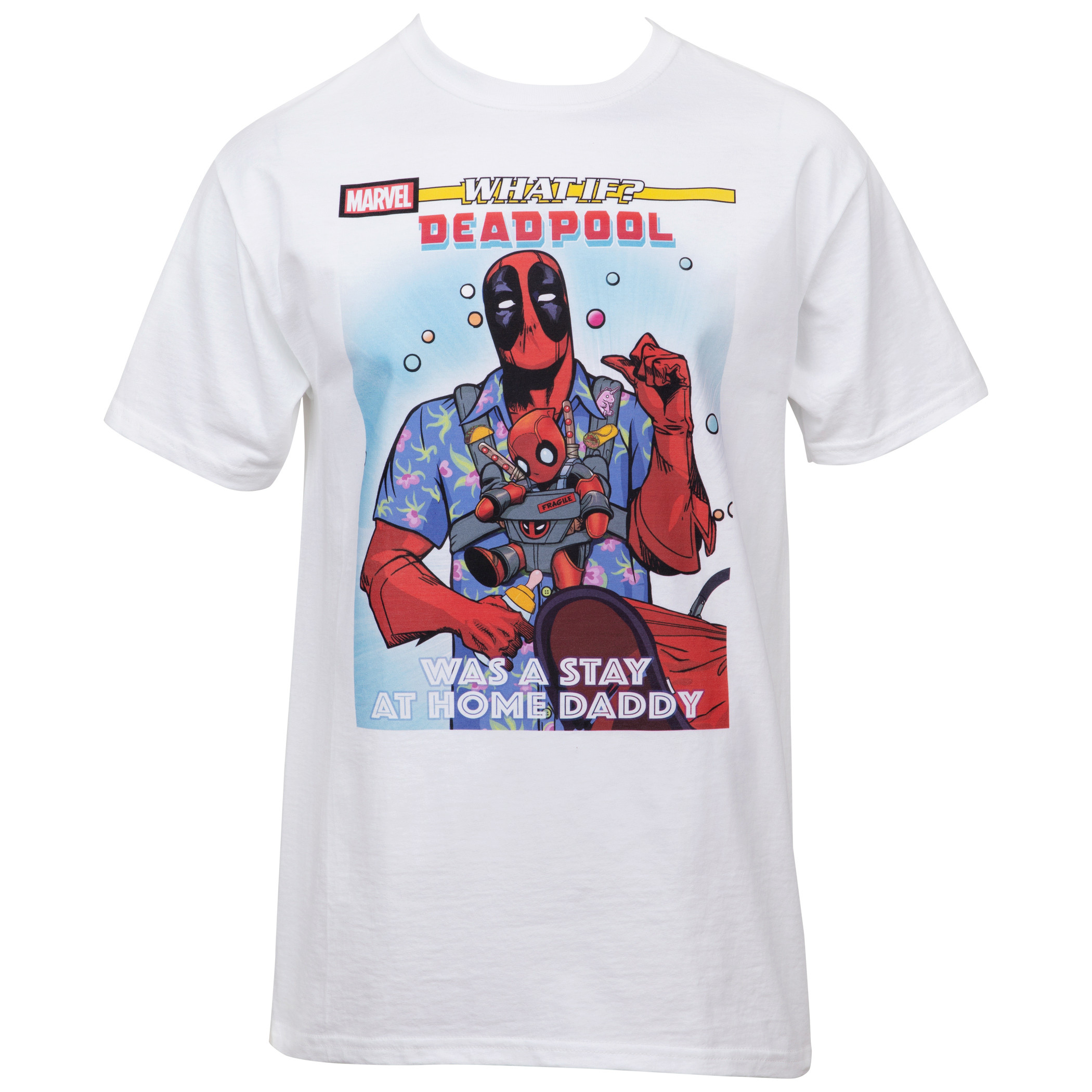 Marvel What If Deadpool Was A Dad Comic Cover Image T-shirt