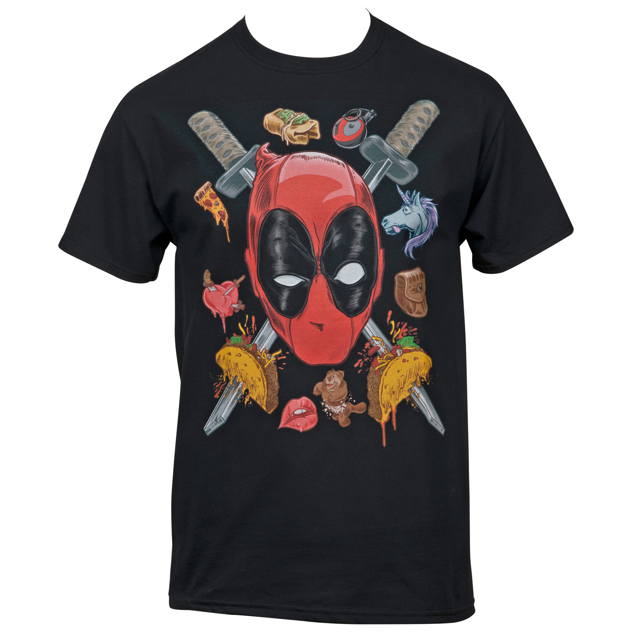 Marvel Deadpool Two Swords For My Thoughts T-shirt