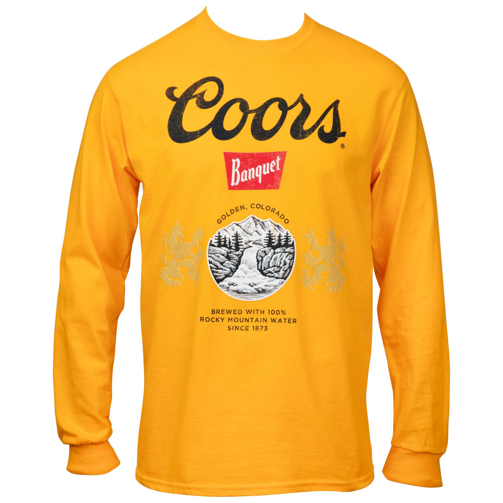 Coors Beer Banquet Gold Long Sleeve Shirt