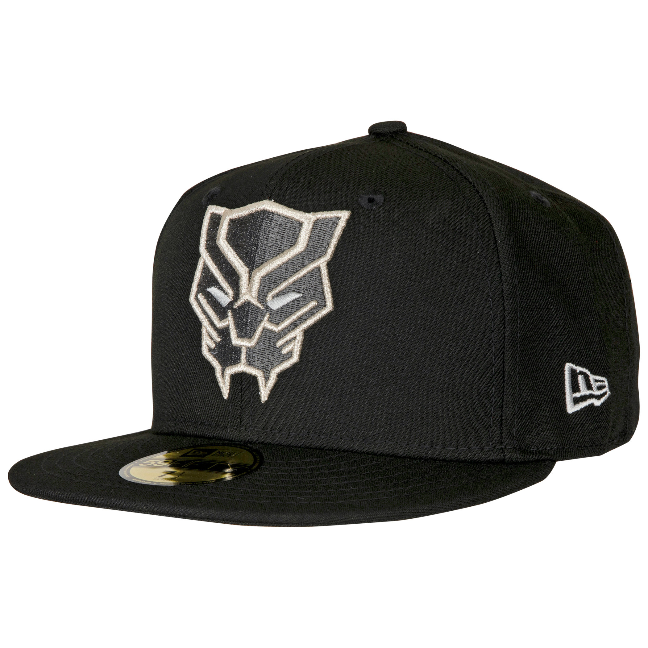 Black Panther Face Symbol Color Block New Era 59Fifty Fitted Hat