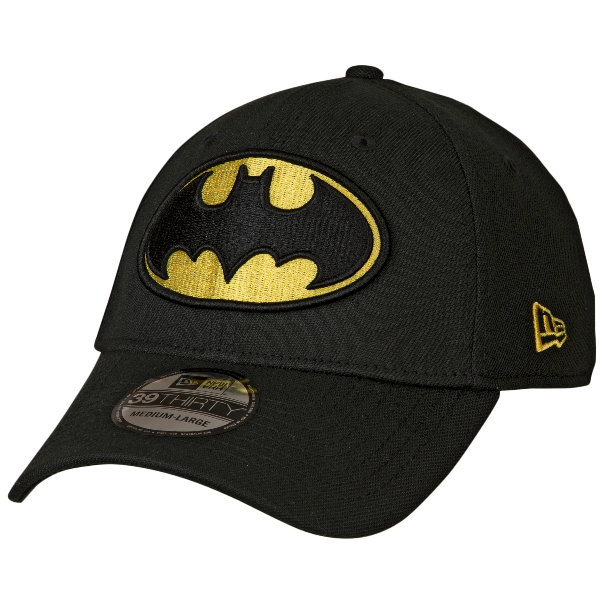 Batman Classic Symbol Color Block New Era 39Thirty Fitted Hat