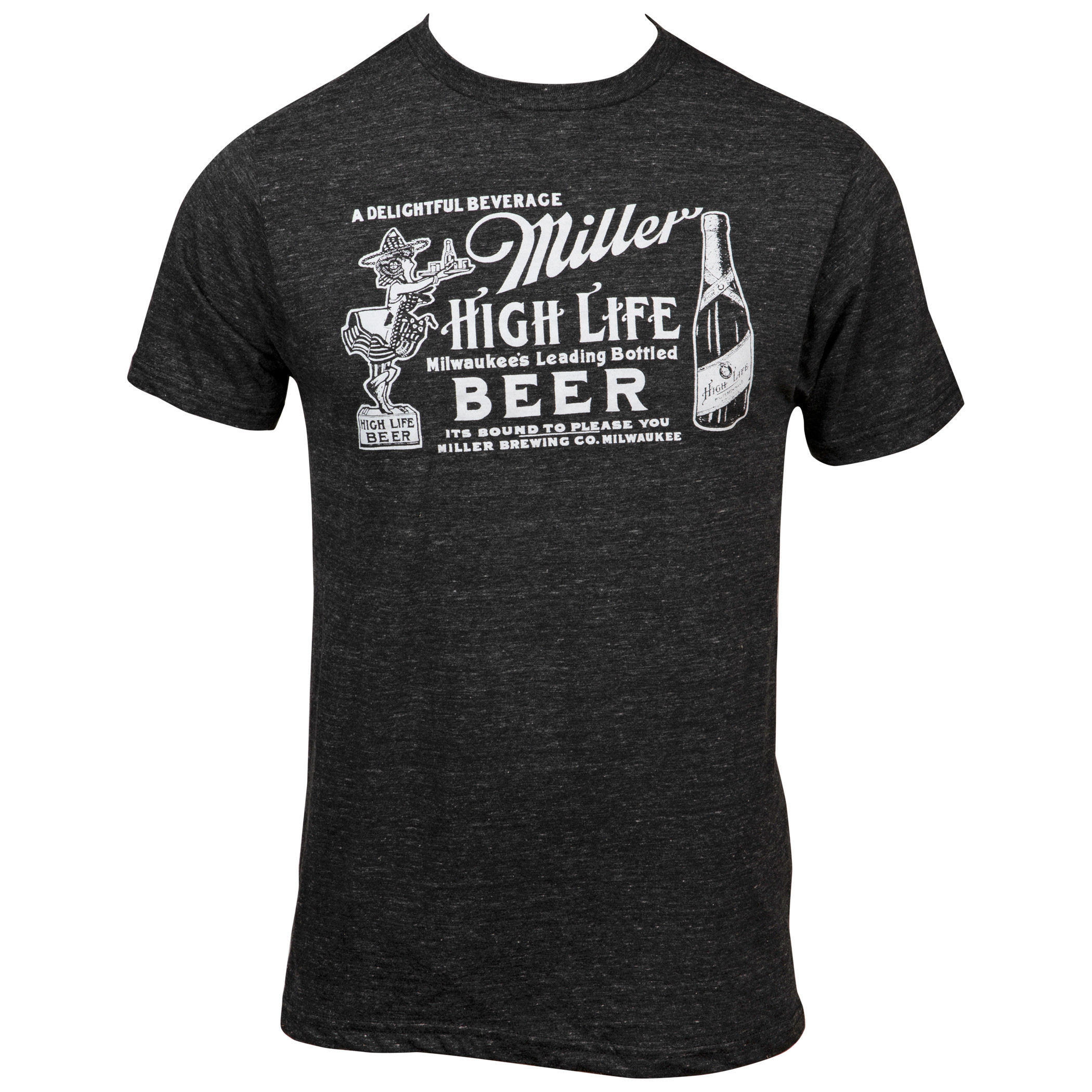 Miller High Life Girl In The Moon Label T-Shirt