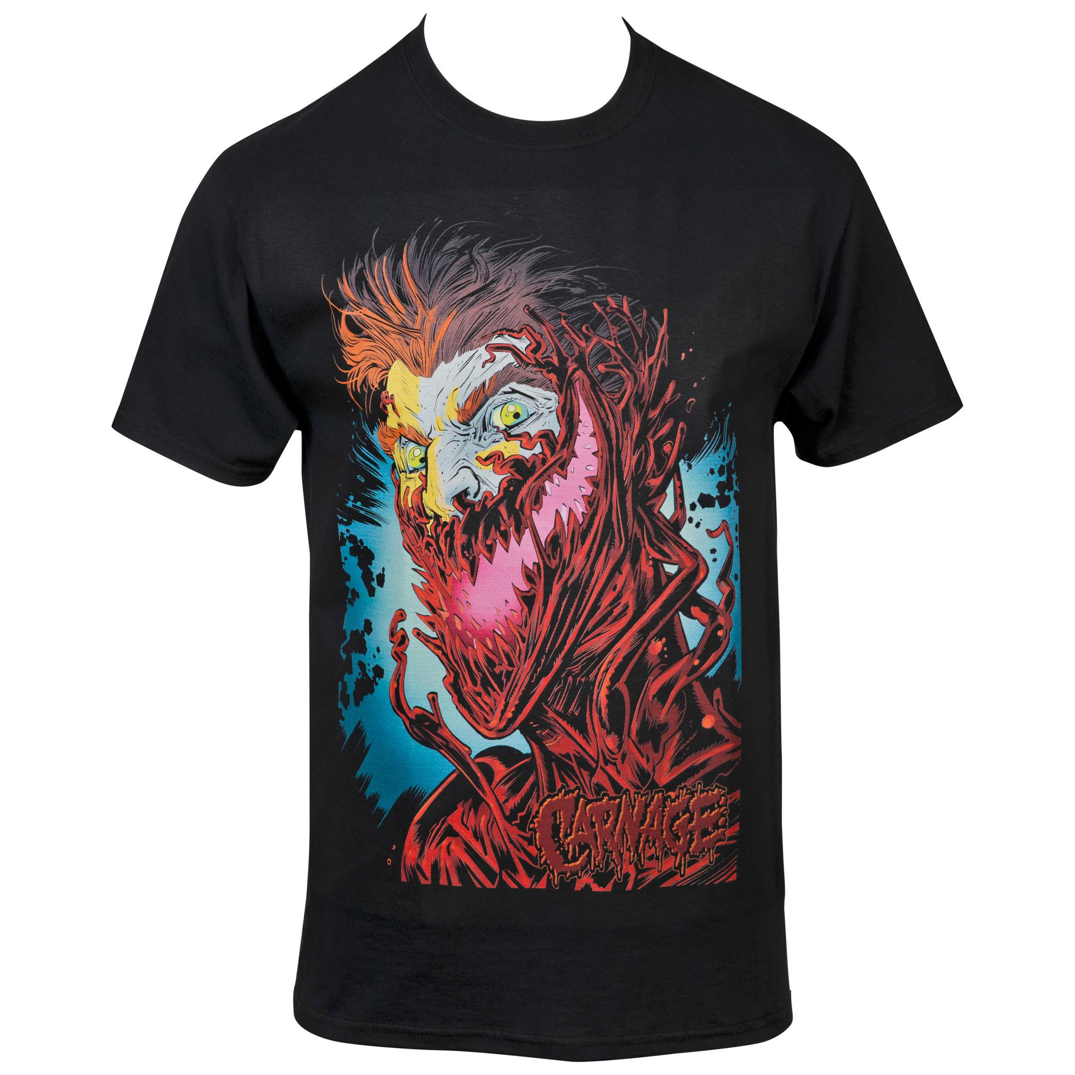 Marvel's Comics Carnage Cletus Cassidy Face T-Shirt