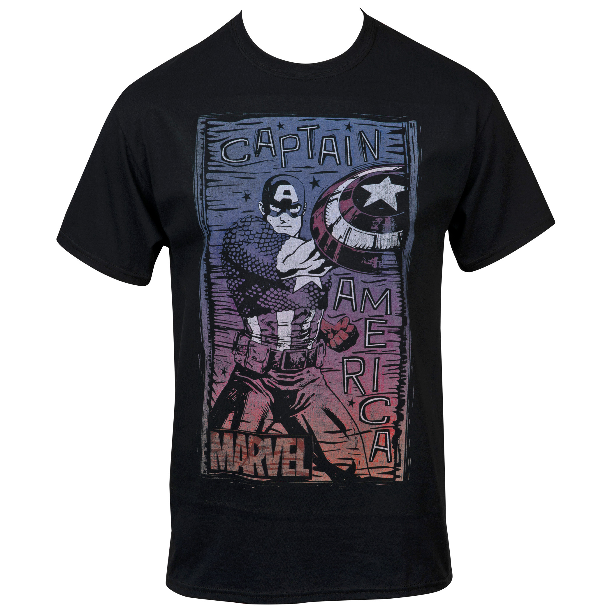 Marvel Captain America The First Avengers Fight Stance T-Shirt