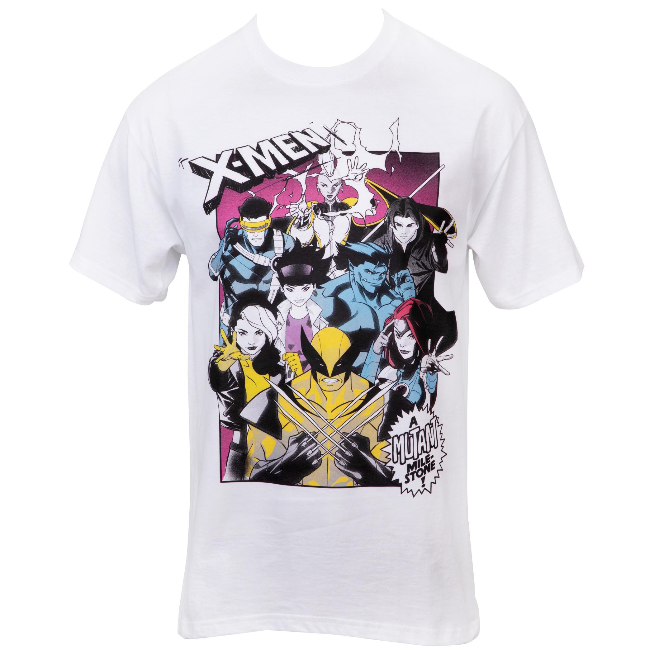 Marvel X-Men Characters Mutant Milestone T-Shirt