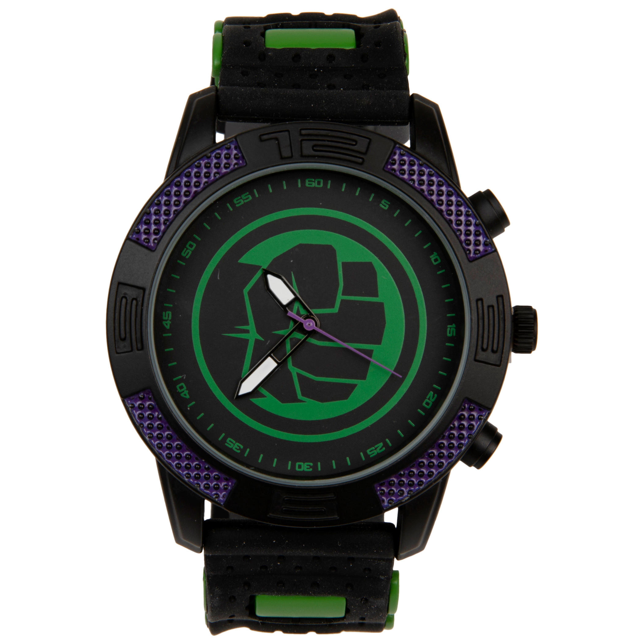 The Incredible Hulk Symbol Marvel Watch with Silicone Band