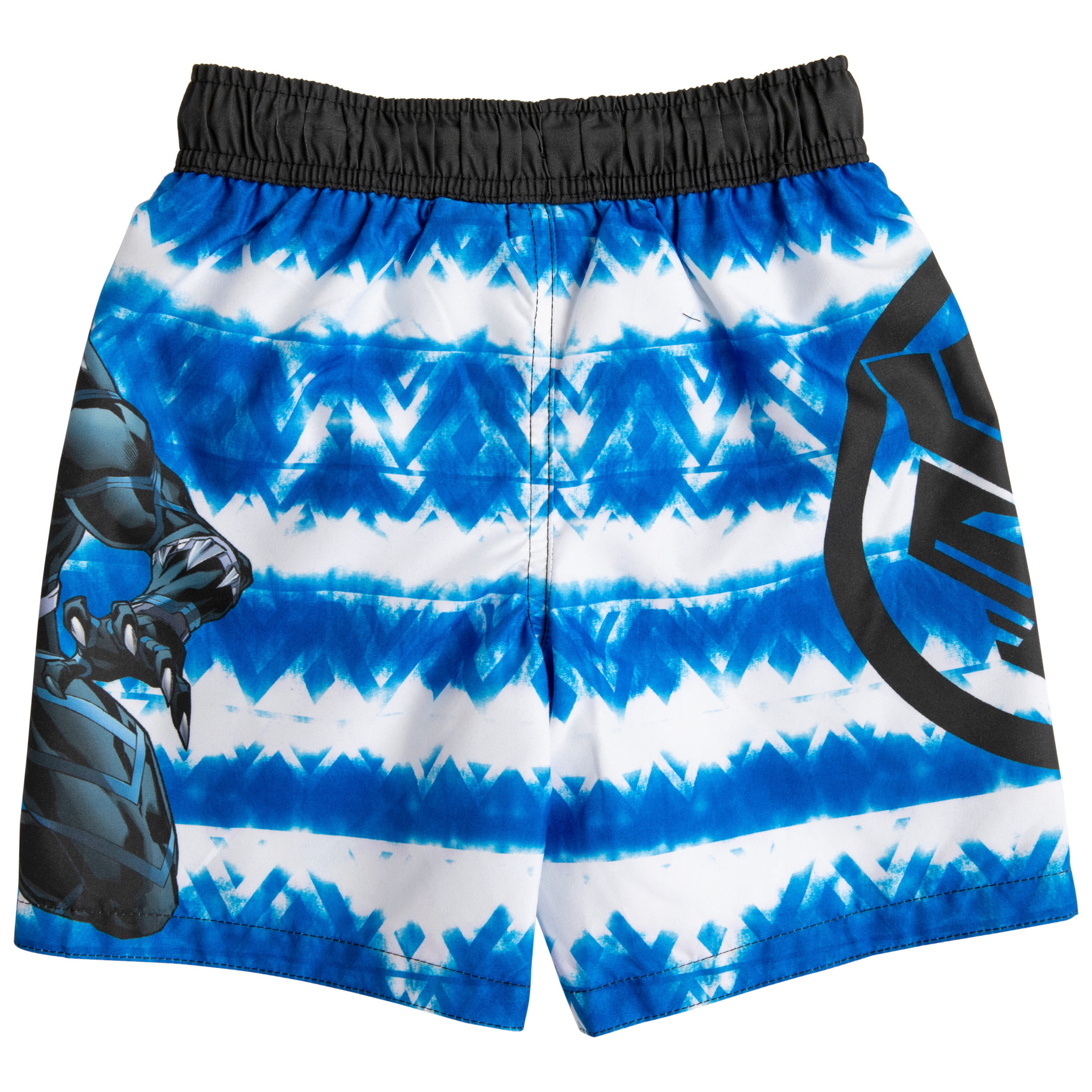 Marvel Black Panther Character and Symbol Youth Swim Trunks