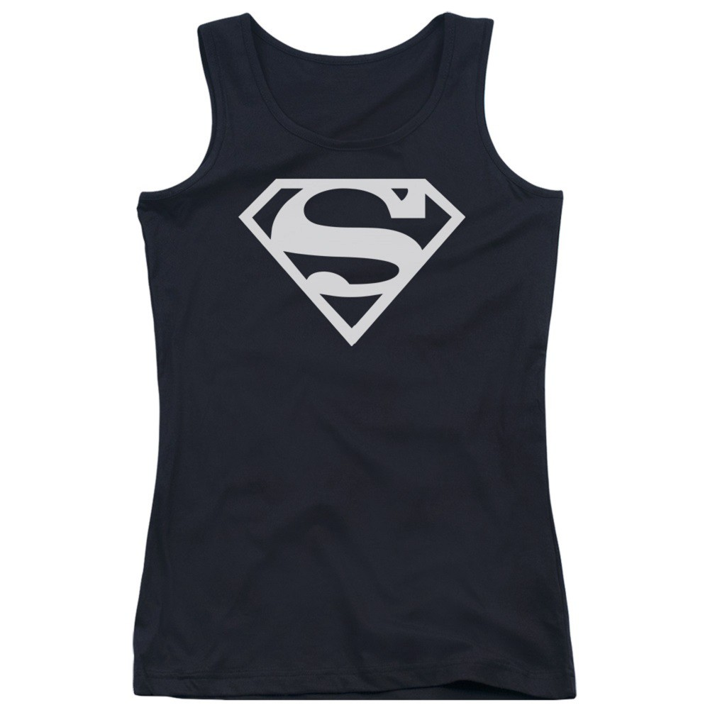 Superman Black and White Women's Tank Top