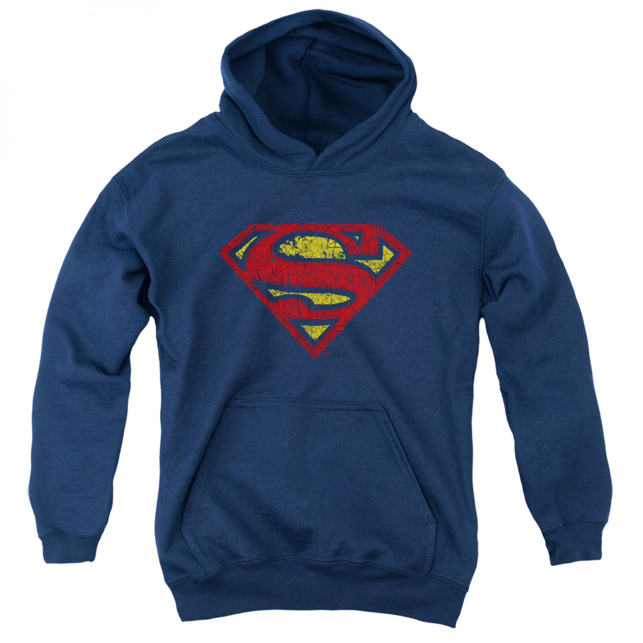 Superman Distressed Symbol Youth Hoodie
