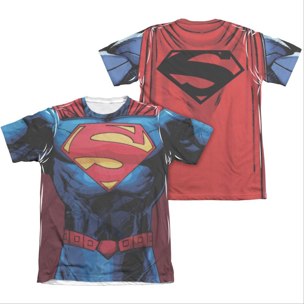 Superman New 52 Costume Sublimation T-Shirt