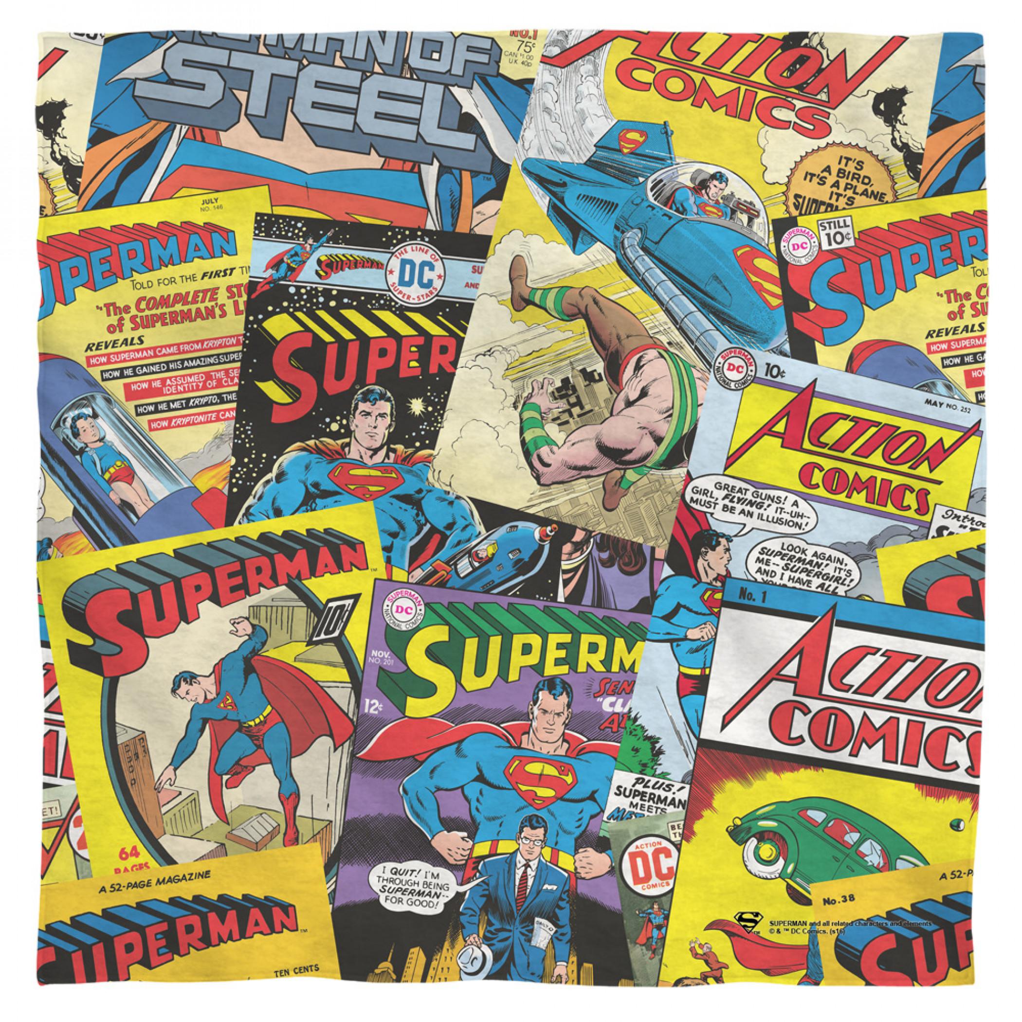 Superman Vintage Comics Bandana
