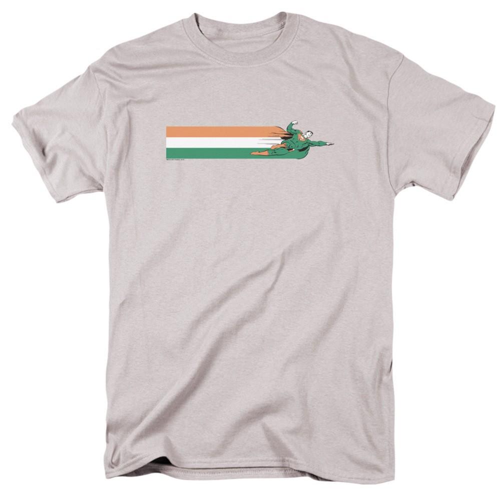 Superman Flying Irish Flag Men's Grey T-Shirt