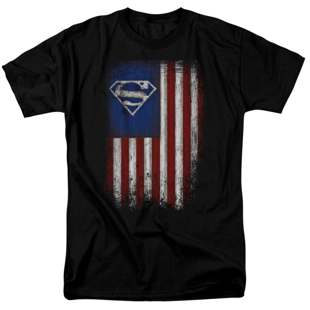 Superman Old Glory Men's T-Shirt