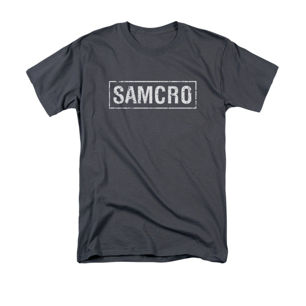 Sons Of Anarchy SAMCRO Logo Gray T-Shirt