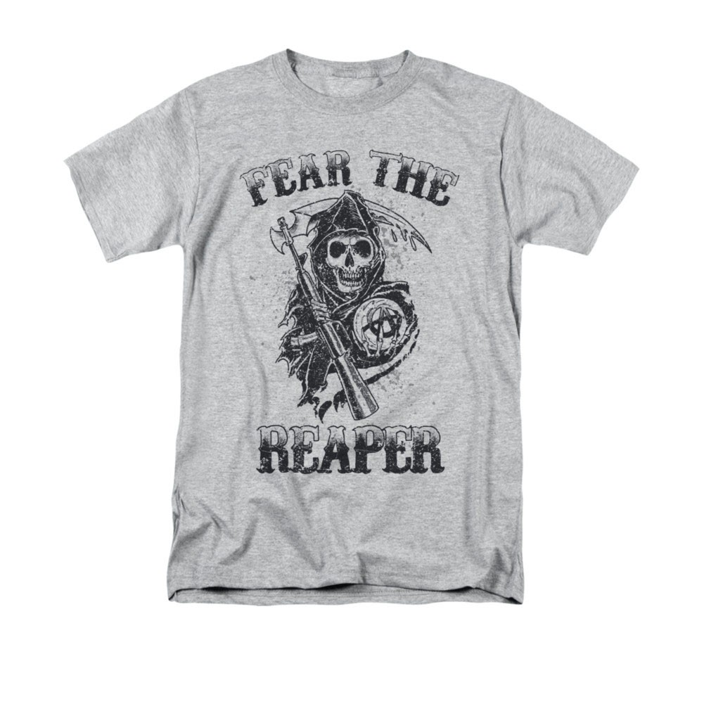 Sons Of Anarchy Fear The Reaper Gray T-Shirt