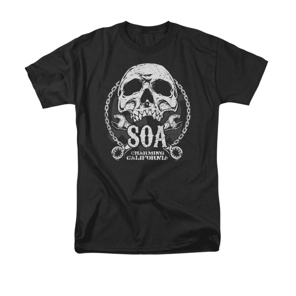 Sons Of Anarchy SOA Club Black T-Shirt
