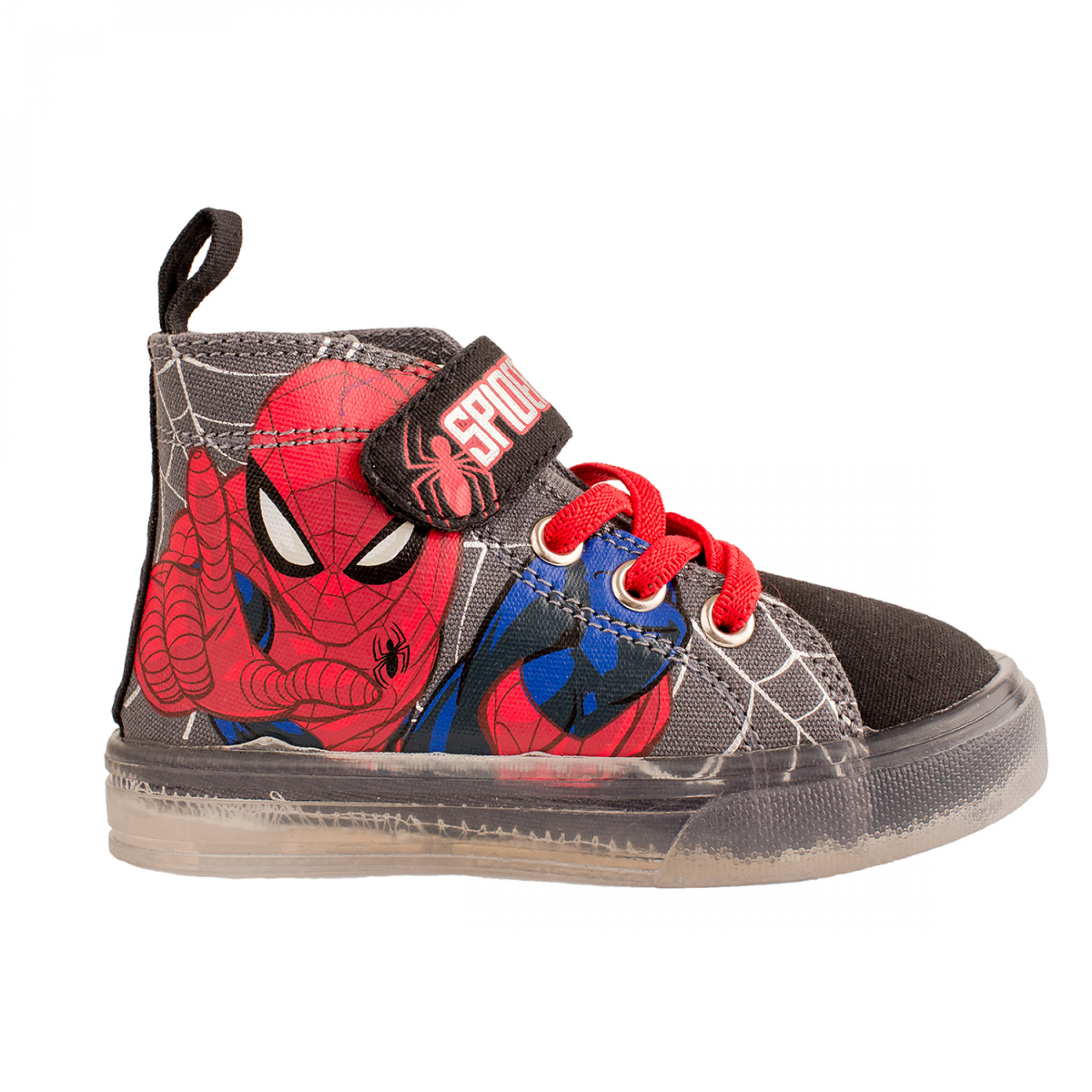 Spider-Man Kids Lighted Canvas Shoes