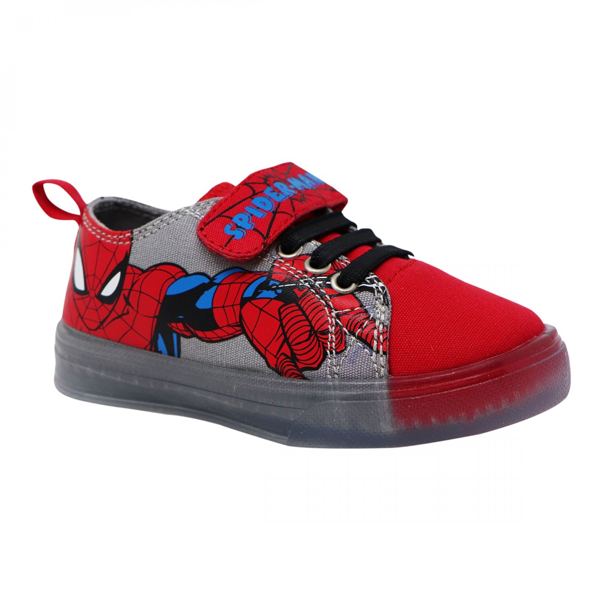 Marvel Spider-Man Web Shooting Kids Lighted Canvas Shoes