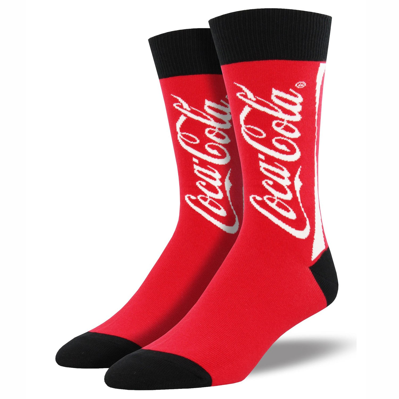 Coca Cola Classic Logo Men's Red Socks