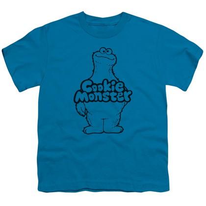 Sesame Street Cookie Monster Youth Blue Tshirt