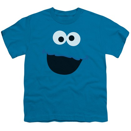 Sesame Street Cookie Monster Big Face Youth Tshirt