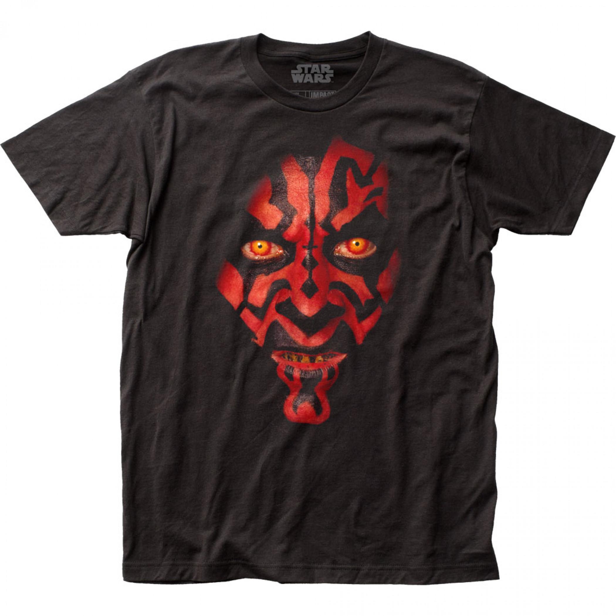 Star Wars Darth Maul Face T-Shirt