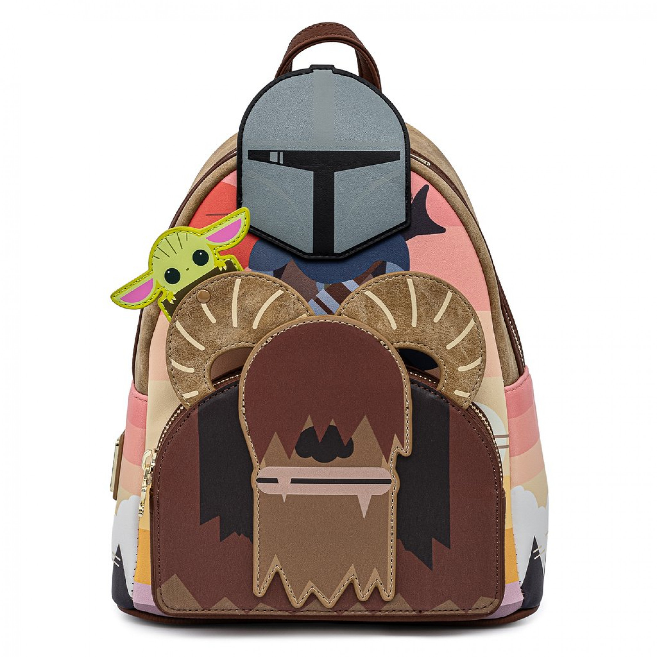 Star Wars The Mandalorian and Grogu Mini Backpack by Loungefly