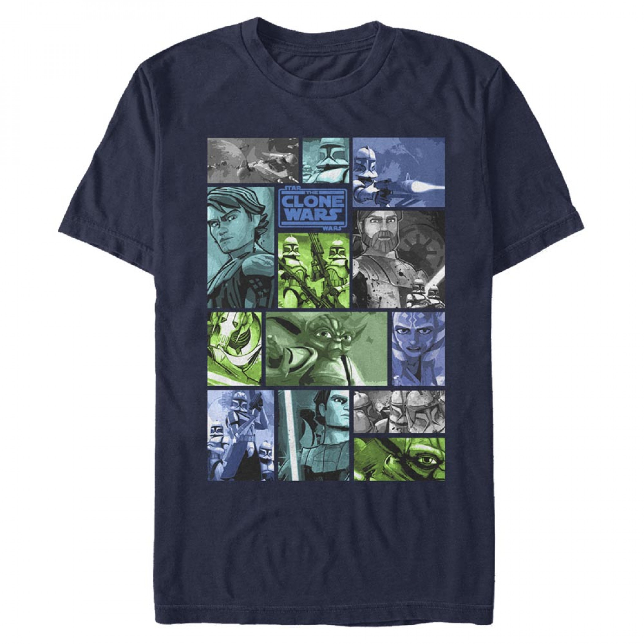 Star Wars Clone Wars Panels T-Shirt