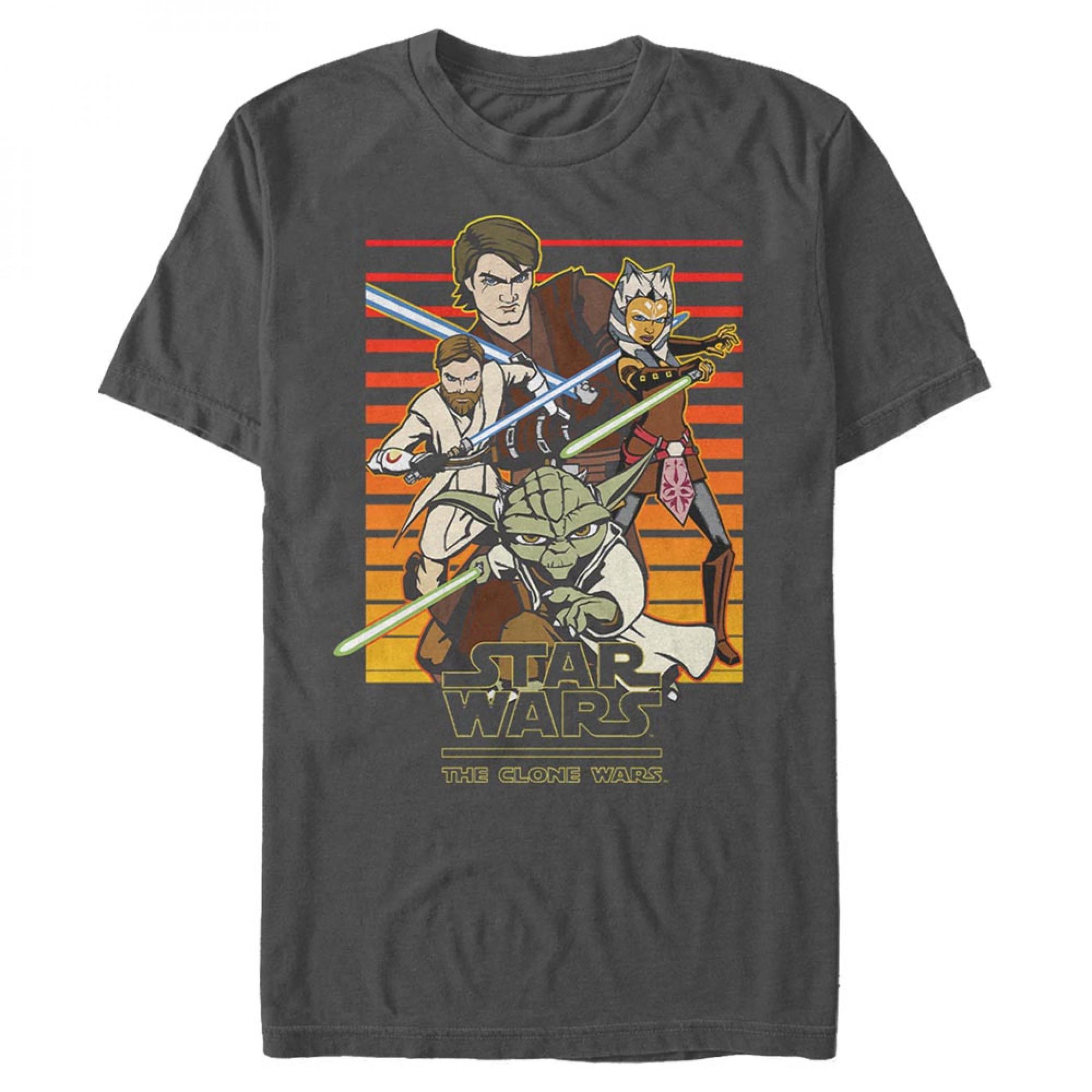 Star Wars Clone Wars Title T-Shirt