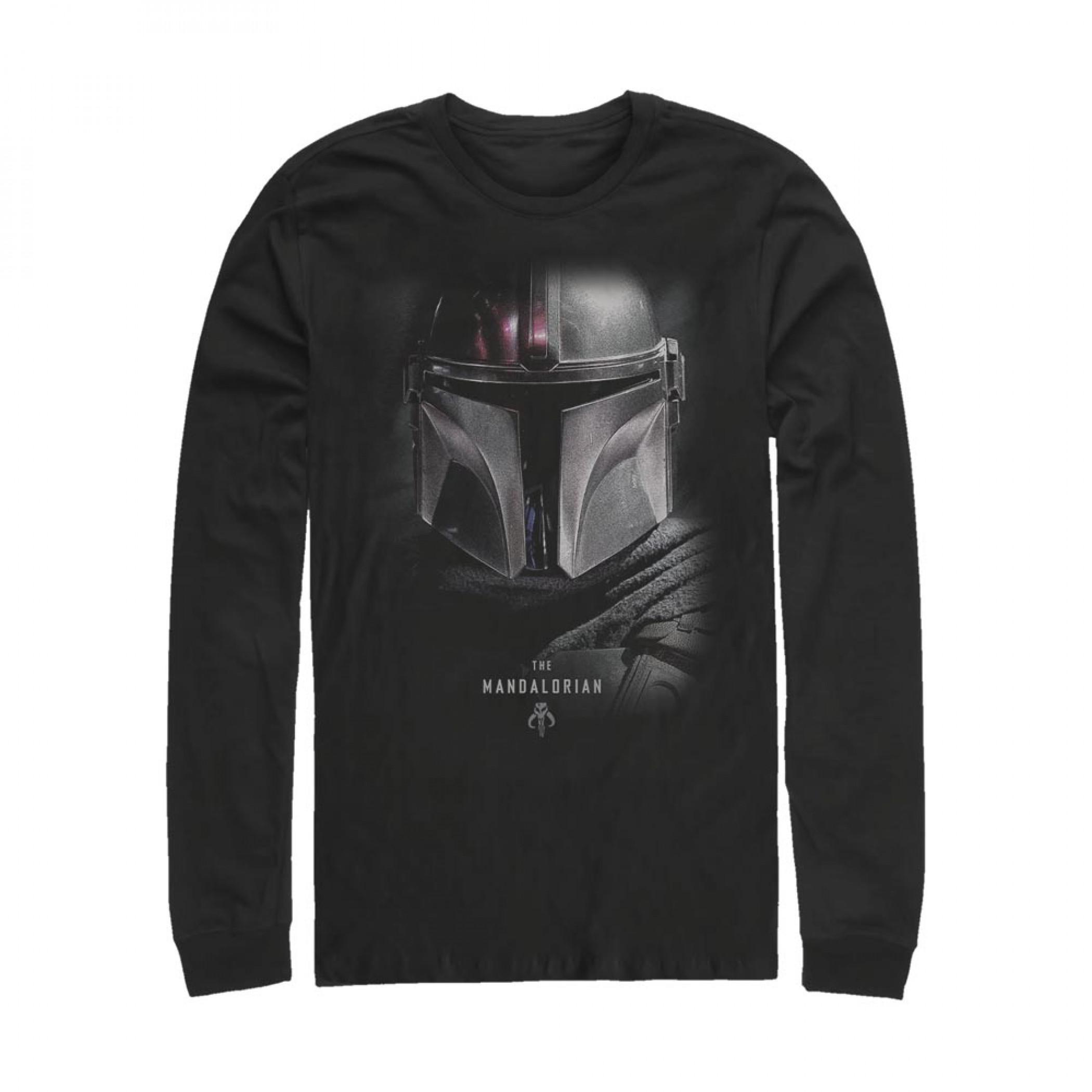The Mandalorian Bounty Hunter Helmet Long Sleeve Shirt
